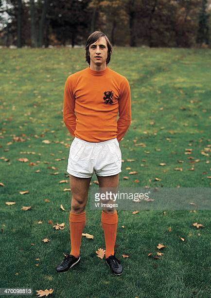 Johan Cruijff of the Dutch national team during a photo shoot on May 6 1974 at Zeist Netherlands