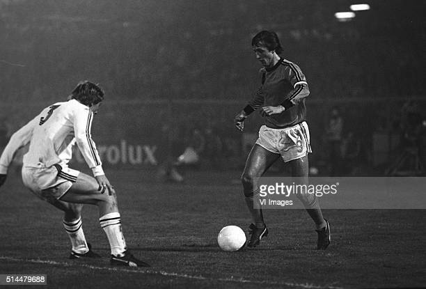 Johan Cruijff of the Netherlands during the World Cup Qualifier match between the Netherlands and Belgium on october 26 1977 at the Olympic Stadium...