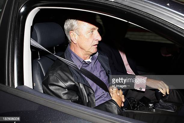Johan Cruijff on March 30, 2011 at the Amsterdam ArenA. The board of directors of Ajax resigned during a special meeting of the member council of the...