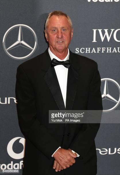 Johan Cruyff arriving for 2012 Laureus World Sports Awards at Central Hall Westminster Storey's Gate London