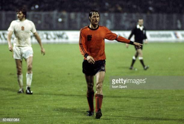 Johan Cruyff of Holland during the European Championship between Czechoslovakia and Holland in Stadium Maksimir Zagreb Yugoslavia on 16th June 1976