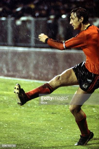 Johan Cruyff of Holland during the European Championship match for the 3rd place between Holland and Yugoslavia in Stadium Maksimir Zagreb Yugoslavia...