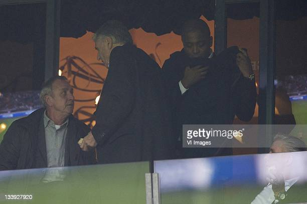 Johan Cruyff, Sjaak Swart, Bryan Roy, Keje Molenaar during the Dutch Eredivisie match between Ajax and NAC Breda at the Amsterdam Arena November 19,...