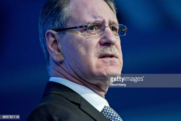Johan de Nysschen president of General Motors Co's Cadillac unit speaks at the Automotive News World Congress event in Detroit Michigan US on Tuesday...