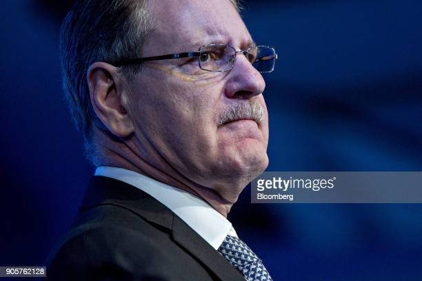 Johan de Nysschen president of General Motors Co's Cadillac unit pauses while speaking at the Automotive News World Congress event in Detroit...
