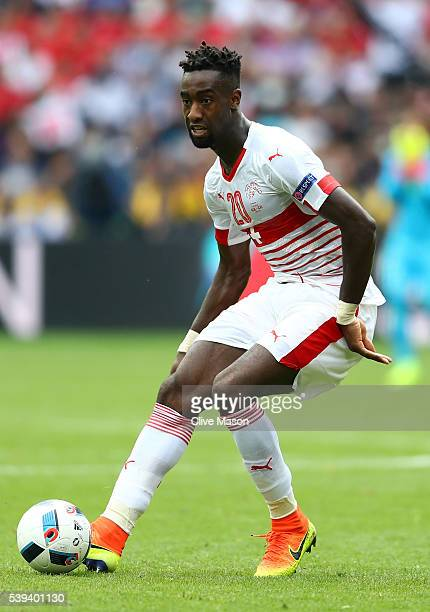Johan Djourou of Switzerland in action during the UEFA EURO 2016 Group A match between Albania and Switzerland at Stade BollaertDelelis on June 11...