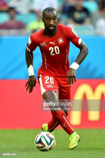 Johan Djourou of Switzerland the 2014 FIFA World Cup Brazil Group E match between Switzerland and France at Arena Fonte Nova on June 20 2014 in...