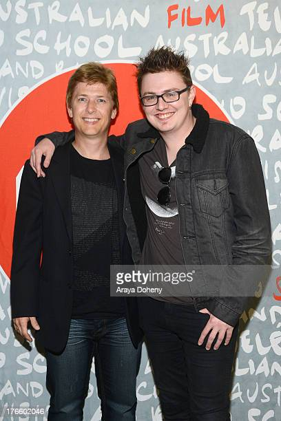 Johan Earl and Adrian Powers attend the Australians In Film screening of Battle Ground on August 15 2013 in Los Angeles California