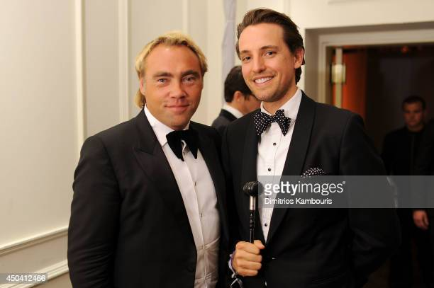 Johan Ernst Nilson and Alexander Gilkes attend the amfAR Inspiration Gala New York 2014 at The Plaza Hotel on June 10 2014 in New York City