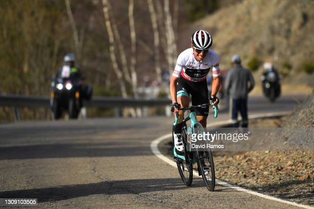Johan Esteban Chaves Rubio of Colombia and Team BikeExchange Red Mountain Jersey during the 100th Volta Ciclista a Catalunya 2021, Stage 4 a 166,5km...