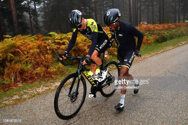Johan Esteban Chaves Rubio of Colombia and Team Mitchelton - Scott / Tsgabu Gebremaryam Grmay of Ethiopia and Team Mitchelton - Scott / Mechanical...