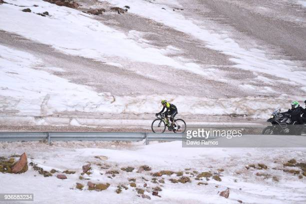 Johan Esteban Chaves Rubio of Colombia and Team MitcheltonScott Col de La Creueta 1925m Snow / during the 98th Volta Ciclista a Catalunya 2018 Stage...