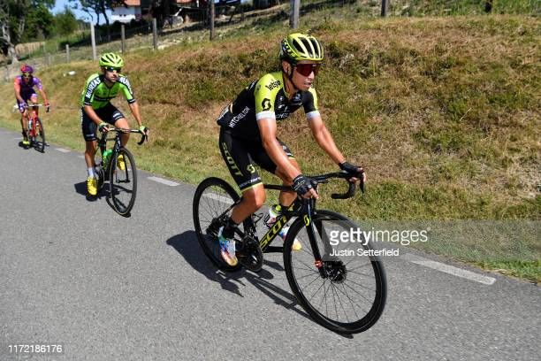 Johan Esteban Chaves Rubio of Colombia and Team MitcheltonScott / Mikel Iturria Segurola of Spain and Team Euskadi Basque CountryMurias / during the...