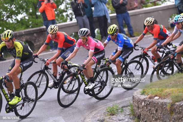 Johan Esteban Chaves Rubio of Colombia Blue Mountain Jersey and Team Mitchelton-Scott / Simon Yates of Great Britain and Team Mitchelton-Scott Pink...