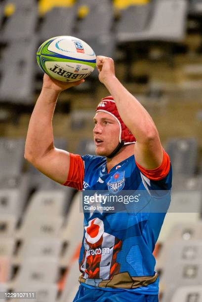 Johan Grobbelaar of Vodacom Bulls during the Super Rugby Unlocked match between the Toyota Cheetahs and Vodacom Bulls at Toyota Stadium on October 16...