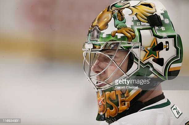 Johan Hedberg of the Dallas Stars prior to the game against the Colorado Avalanche on January 26 2006 at Pepsi Center in Denver Colorado