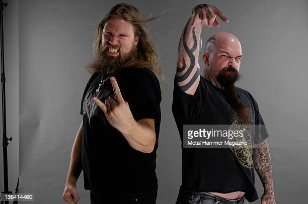 Johan Hegg and Kerry King in a session for Metal Hammer magazine August 22 2008