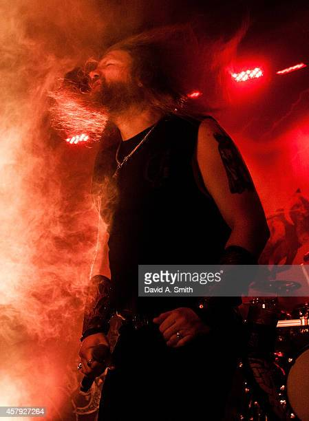 Johan Hegg of Amon Amarth performs at Iron City on October 26 2014 in Birmingham Alabama