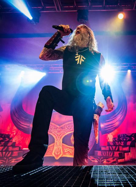 GBR: Amon Amarth Performs At O2 Academy Birmingham