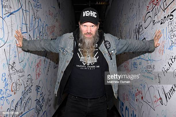 Johan Hegg of the death metal band Amon Amarth visits Music Choice on February 2 2016 in New York City