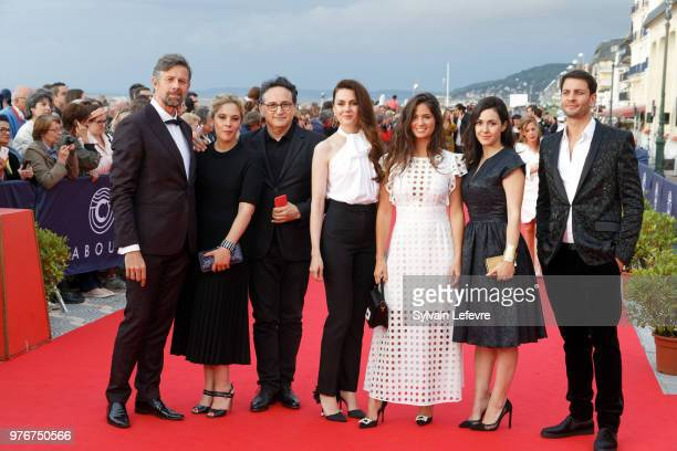 Johan Heldenbergh Alysson Paradis Thierry Klifa Julia Faure Ophelie Bau Alice Vial Marc Ruchmann attend red carpet for the closing ceremony of...