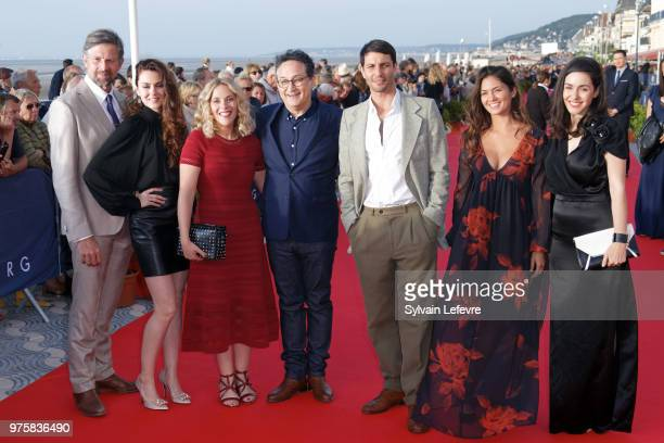 Johan Heldenbergh Julia Faure Alysson Paradis Thierry Klifa Marc Ruchmann Ophelie Bau and Alice Vial attend photocall during Cabourg Film Festival...