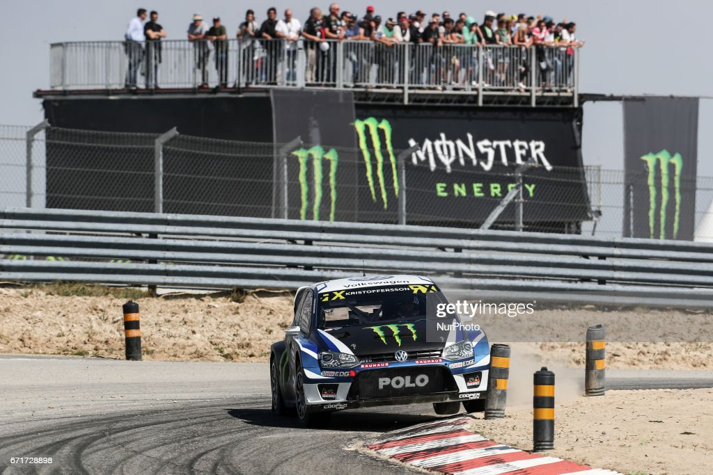 Johan KRISTOFFERSSON (SWE) in Volkswagen Polo GTI of PSRX Volkswagen Sweden in action during the World RX of Portugal 2017, at Montalegre International Circuit in Portugal on April 22, 2017.