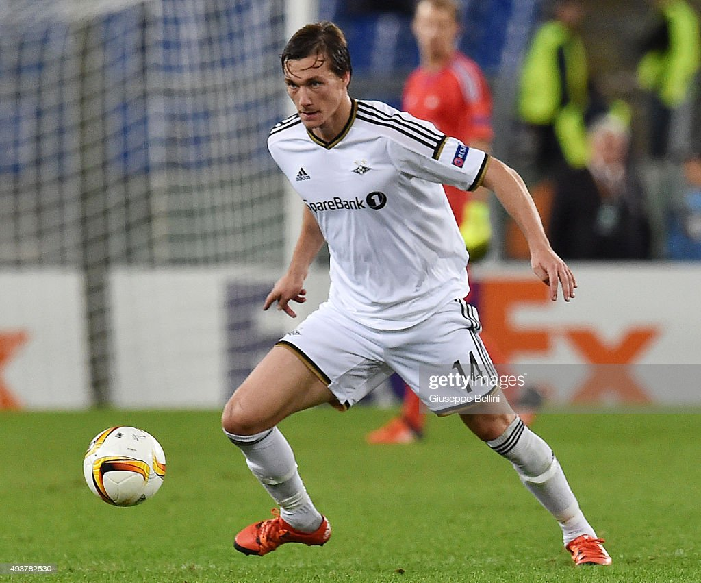 Johan Laedre Bjordal of Rosenborg BK in action during the UEFA Europa League group G match between SS Lazio and Rosenborg BK at Stadio Olimpico on October 22, 2015 in Rome, Italy.