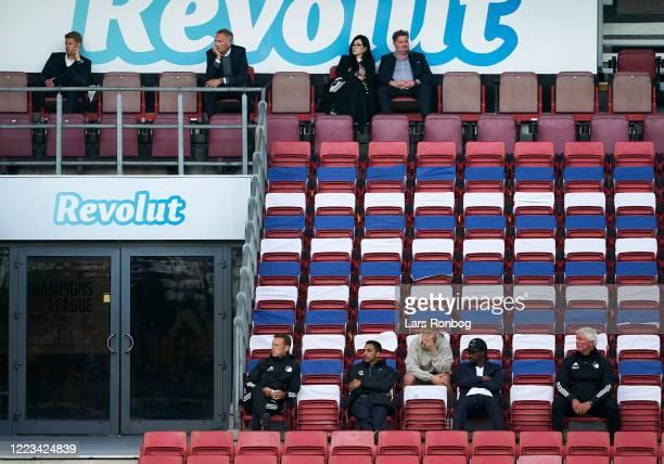 Johan Lange technical director of FC Copenhagen Bo Rygaard president of FC Copenhagen wife of Erik Skjabak Erik Skjarbak partly owner of FC...