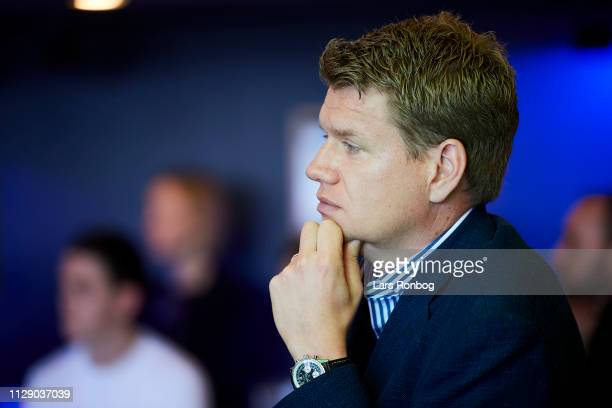 Johan Lange technical director of FC Copenhagen during the FC Copenhagen Parken Sport and Entertainment Press Conference at Telia Parken on March 7...