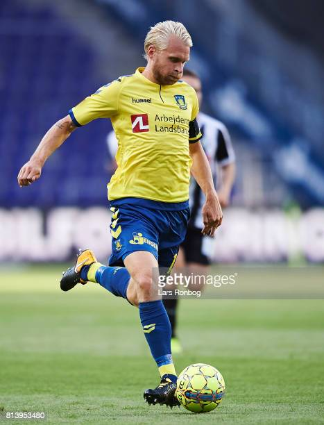 Johan Larsson of Brondby IF controls the ball during the UEFA Europa League Qualification match between Brondby IF and VPS Vaasa at Brondby Stadion...