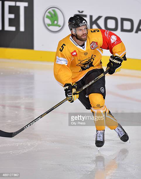 Johan Larsson of SaiPa Lappeenranta during the Champions Hockey League game between ERC Ingolstadt and SaiPa Lappeenranta on august 23, 2014 in...
