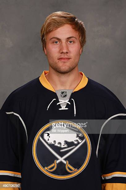 Johan Larsson of the Buffalo Sabres poses for his official headshot for the 20152016 season on September 17 2015 at the First Niagara Center in...