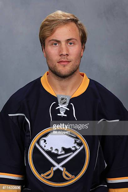 Johan Larsson of the Buffalo Sabres poses for his official headshot of the 20162017 season on September 22 2016 at the KeyBank Center in Buffalo New...