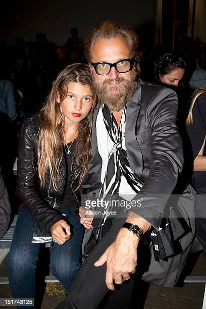 Johan Lindeberg and daughter Blue attend the Zero Maria Cornejo Spring 2013 during MercedesBenz Fashion Week at Pier 57 on September 10 2012 in New...
