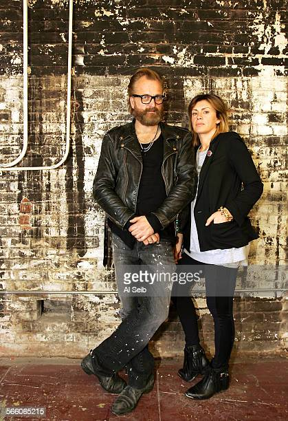 Johan Marcella Lindeberg in their new Los Angeles factory Johan Lindeberg and his wife Marcella recently moved to Los Angeles with Johan' s fashion...