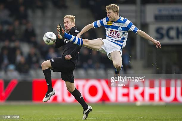 Johan Martensson of FC UtrechtMichael de Leeuw of de Graafschap during the Dutch Eredivisie match between De Graafschap and FC Utrecht at stadium De...