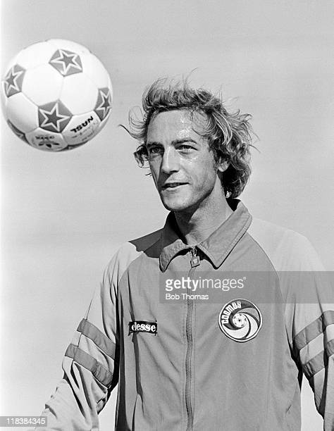 Johan Neeskens training with New York Cosmos prior to the NASL Soccer Bowl in Toronto 24th September 1981