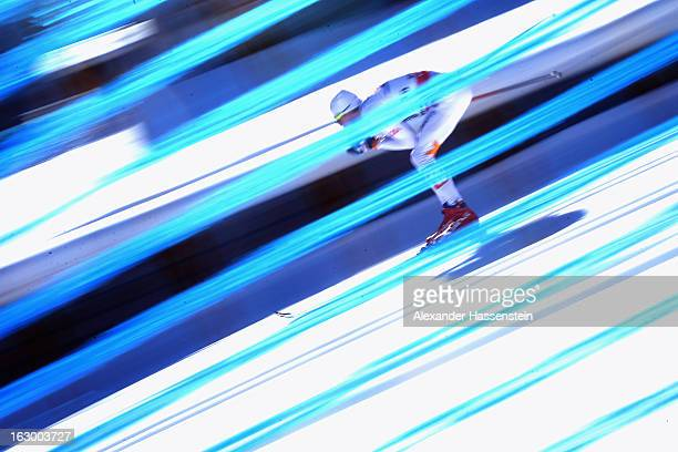 Johan Olsson of Sweden wins the Men's 50Km Cross Country Mass Start at the FIS Nordic World Ski Championships on March 3, 2013 in Val di Fiemme,...