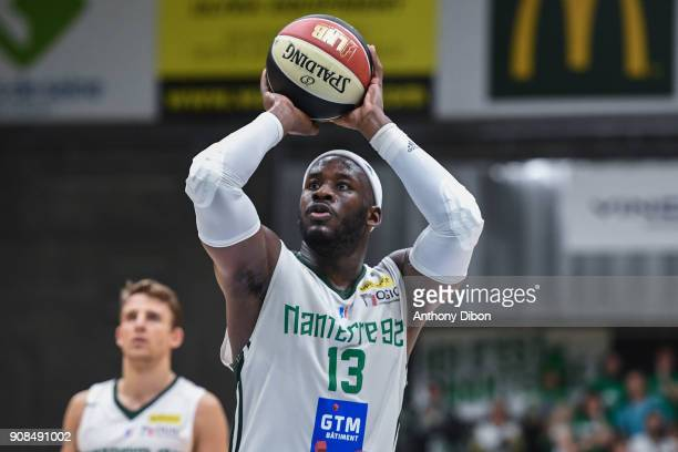 Johan Passave Ducteil of Nanterre during the Pro A match between Nanterre 92 and Monaco on January 21 2018 in Nanterre France