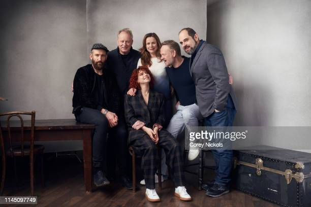 Johan Renck Jared Harris Jessie Buckley Emily Watson Stellan Skarsgard and Craig Mazin of the film series 'Chernobyl' pose for a portrait during the...