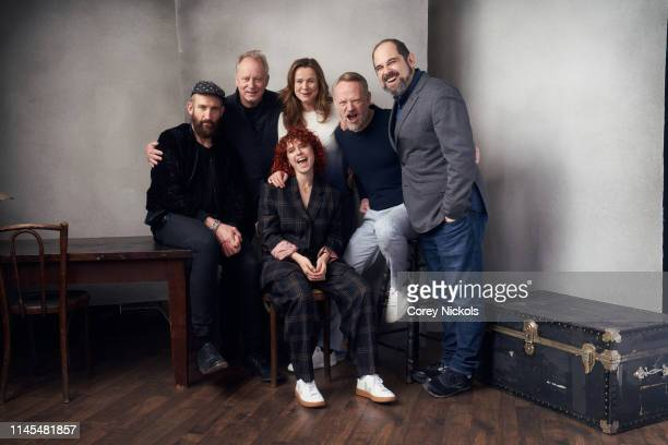 Johan Renck Jared Harris Jessie Buckley Emily Watson Stellan Skarsgard and Craig Mazin of the HBO series 'Chernobyl' poses for a portrait during the...