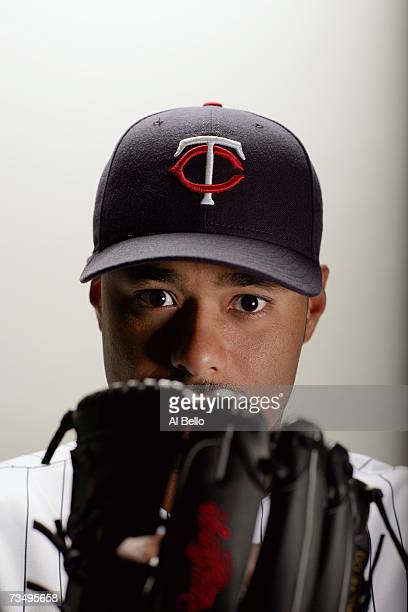 Johan Santana of the Minnesota Twins poses during Photo Day on February 26 2007 at Hammond Stadium in Fort Myers Florida