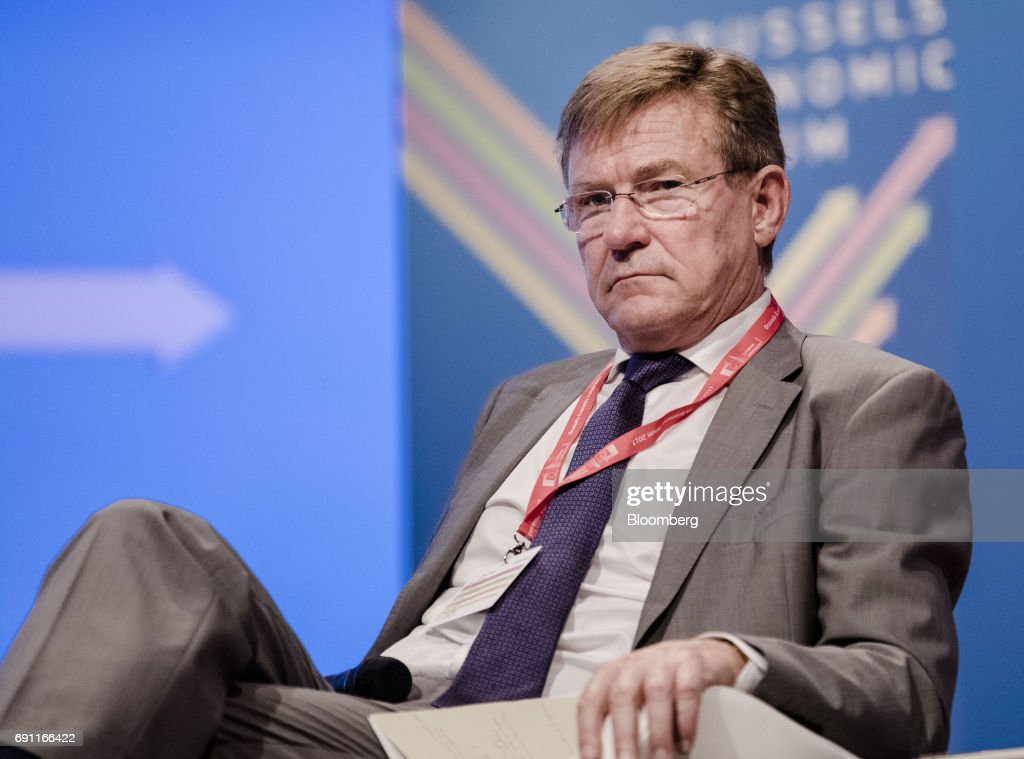Johan Van Overtveldt, Belgium's finance minister, looks on during the Brussels Economic Forum in Brussels, Belgium, on Thursday, June 1, 2017. It may take the U.K. as long as five years to leave the European Union, with the process set to do major harm to both parties, billionaire investor George Soros said, urging the worlds biggest trading bloc to avoid penalizing Britain and instead focus on reforming itself. Photographer: Marlene Awaad/Bloomberg via Getty Images