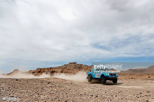 Johan Van Staden and Mark Lawrenson of South Africa in the Nissan Navarra ProDakar compete during day 3 of the Dakar Rallly on January 6 2015 between...
