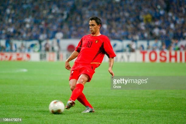 Johan Walem of Belgium during the World Cup match between Japan and Belgium in Saitama Stadium in Saitama Japan on June 4th 2002