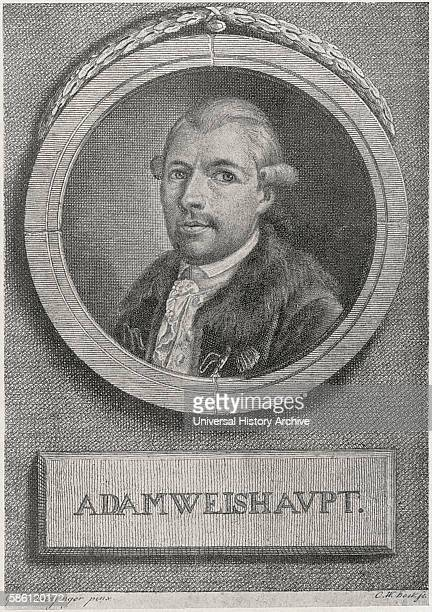 Johann Adam Weishaupt German philosopher Founder of the Order of the Illuminati Secret Society after Mansinger painting Engraved by CW Bockfe Book...