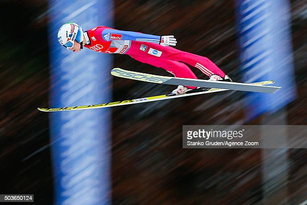 Johann Andre Forfang of Norway competes during the FIS Nordic World Cup Four Hills Tournament on January 6 2016 in Bischofshofen Austria
