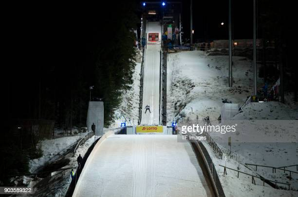 Johann Andre Forfang of Norway competes during the FIS Ski Jumping World Cup on December 09 2017 in TitiseeNeustadt Germany