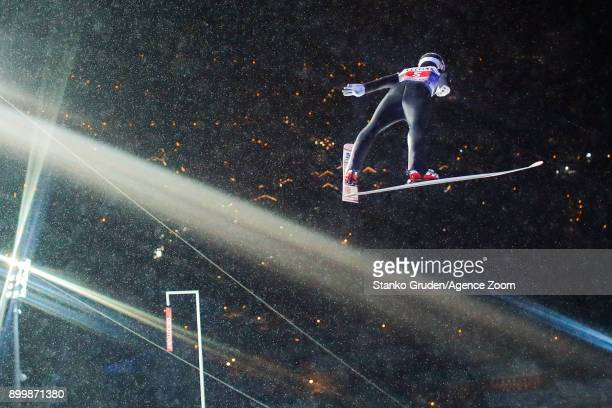 Johann Andre Forfang of Norway in action during the FIS Nordic World Cup Four Hills Tournament on December 30 2017 in Oberstdorf Germany